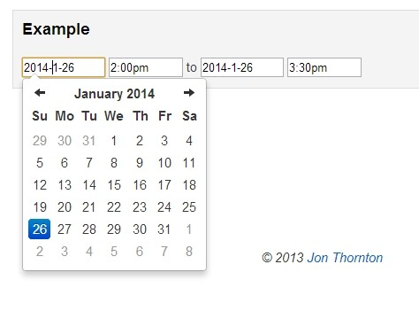 Clean Date & Time Picker with jQuery and Bootstrap 3 | Free