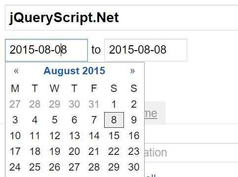 Google Calendar-style Datetime Range Picker Plugin - Calendrical