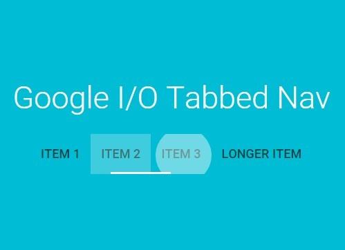 Google I/O 2015 Tabbed Navigation Using jQuery and CSS3
