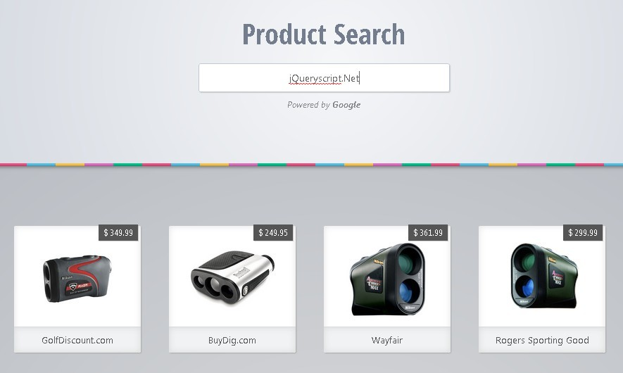 Google Powered Shopping Search Plugin with jQuery
