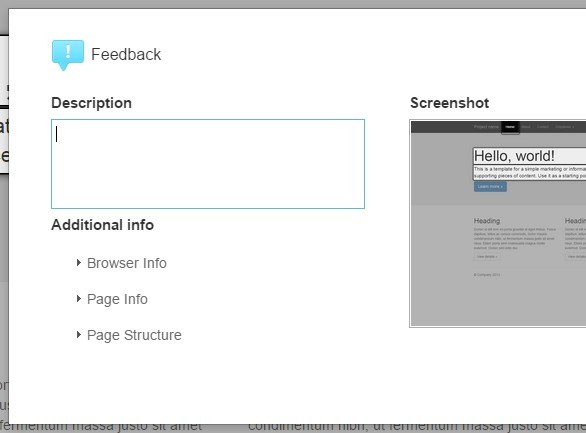 Google Style Feedback Tool with jQuery and HTML2Canvas - Feedback