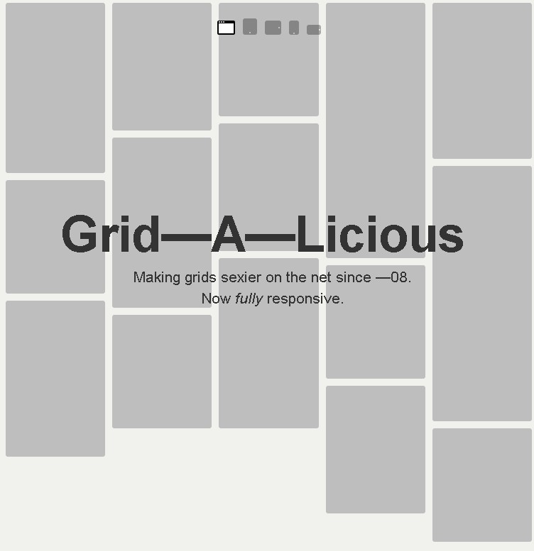 Grid-A-Licious - Awesome Responsive Grid Layout
