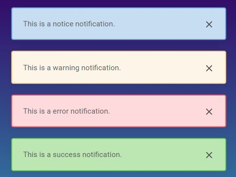 Small Simple Growl Notification Plugin - jQuery Notey-Fi