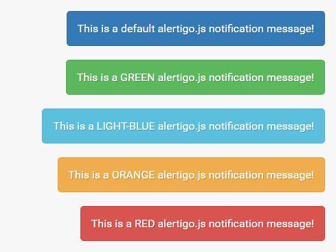 Tiny Growl-style Notification Plugin For jQuery - Alertigo
