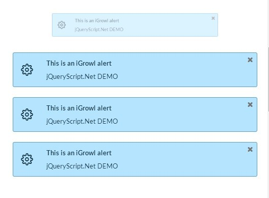 Growl-like Notification Plugin with jQuery and Animate.css - iGrowl