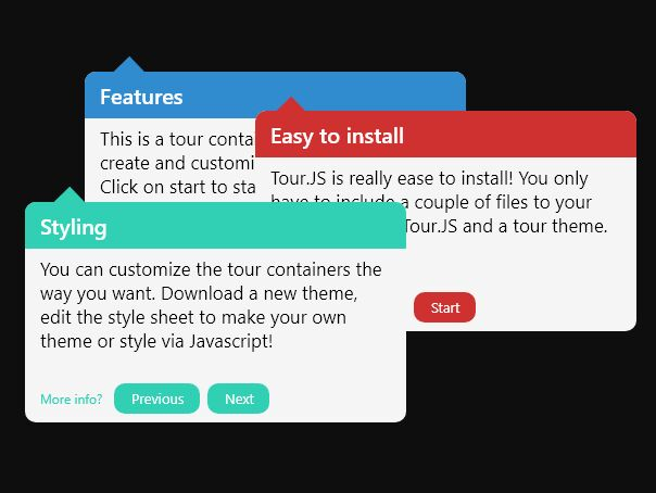Interactive Tooltip-style Guided Tour Plugin - jQuery TourJS