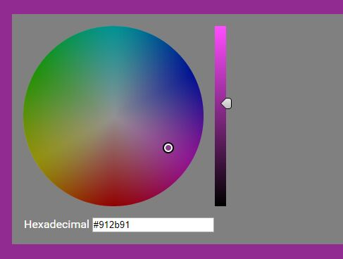Color Wheel Style HSV/HEX Color Picker Plugin With jQuery