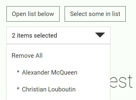HTML List Based Multiple Select Plugin with jQuery - Rekaf