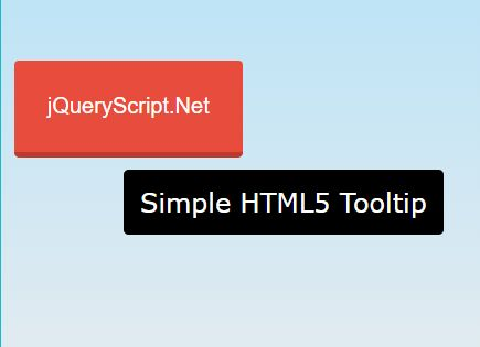 Simple HTML5 Tooltip That Follows Cursor - jQuery light