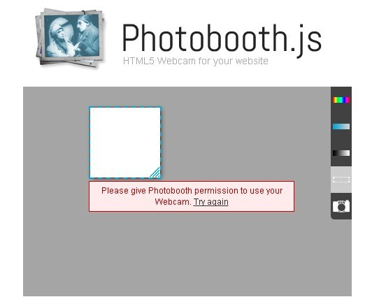 HTML5 Webcam Plugin with jQuery - photobooth