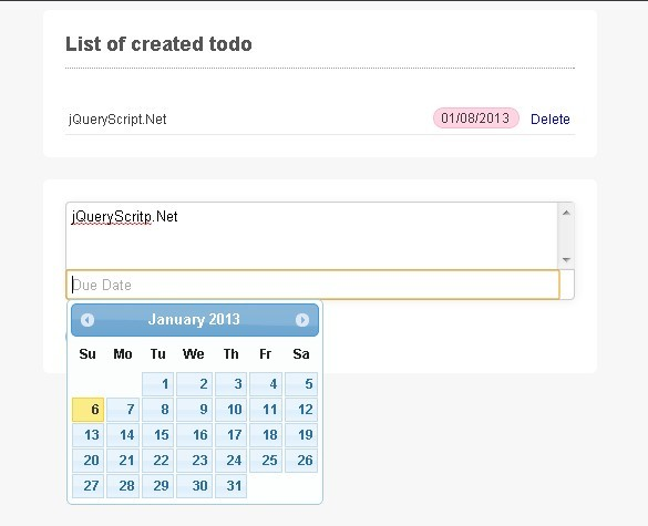 HTML5 Websql Todo Maker with jQuery