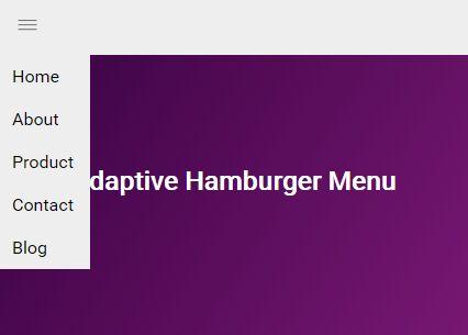Adaptive Hamburger Menu With jQuery And CSS3