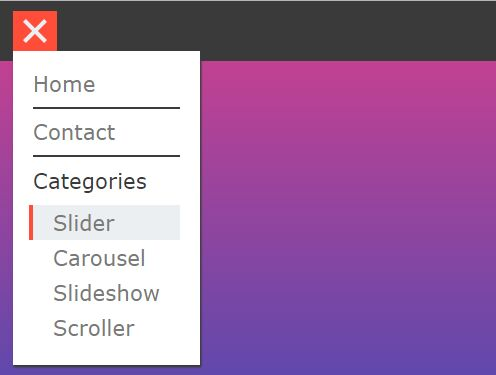 Hamburger Popup Menu With jQuery And CSS3