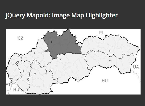 Highlight Image Areas On Hover - jQuery Mapoid
