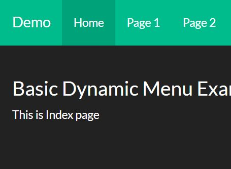 Highlight Active Nav Links On Bootstrap Pages - jQuery Dynamic Menu