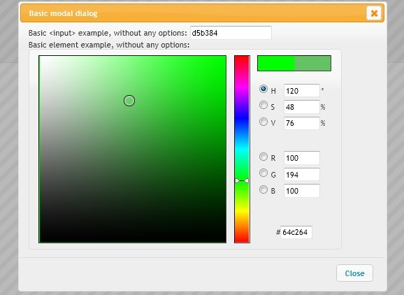 Highly Configurable Color Picker For jQuery and jQuery UI - <font color='red'><font color='red'>vanderlee</font></font> Colorpicker