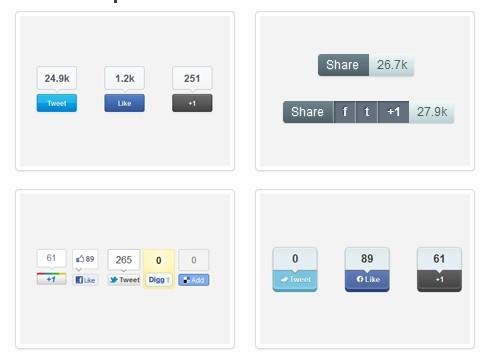Highly Configurable jQuery Social Share Plugin - Sharrre