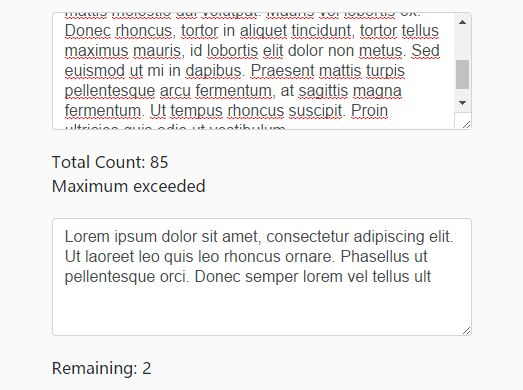 Highly Customizable Character/Word Counter For jQuery - Text Counter
