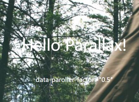 Horizontal/Vertical Parallax Scrolling Effects In jQuery - paroller.js