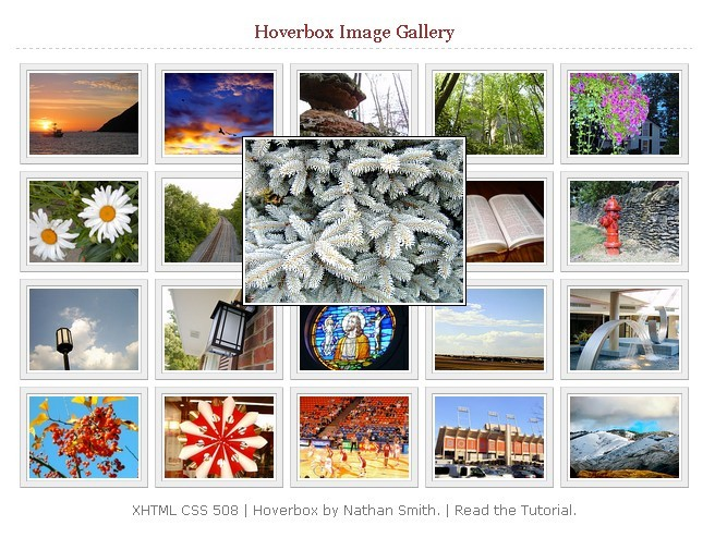 Hoverbox - Pure CSS Image Gallery