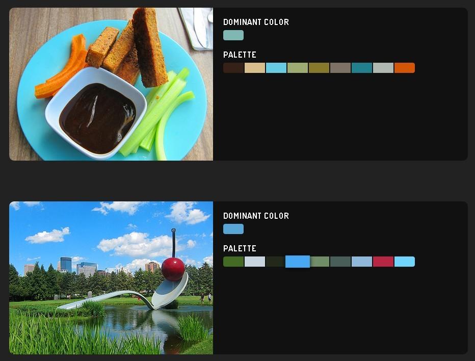 Image Color Palette Generating Plugin - Color Thief