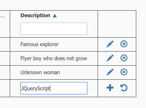 Easy Inline Editor For HTML Tables - jQuery fullTable   Web