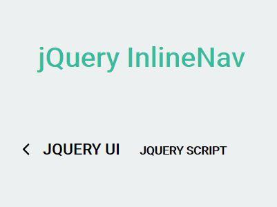Inline Sliding Navigation Plugin For jQuery - InlineNav
