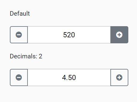 Easy Input Spinner Plugin For Bootstrap 4 - InputSpinner.js