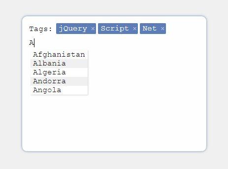 Minimal Input Tokenizer Plugin For jQuery - tokenizer.js