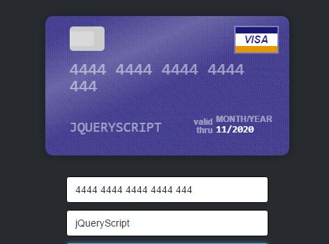 Create An Interactive Credit Card Form In jQuery - Card.js