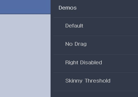 JS Library For Facebook Style Side Panel Menus - Snap.js