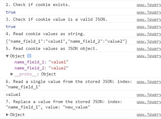Store/Retrieve/Verify/Replace/Remove JSON In Cookies - jQuery SuperCookie