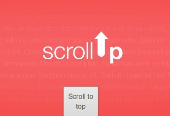 Lightweight Animated Scroll To Top Plugin - scrollUp