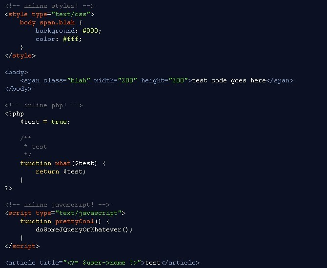 Lightweight Code Syntax Highlighting Script - Rainbow