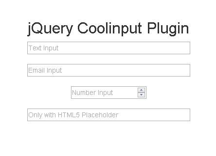 Lightweight & Cross-Browser jQuery Input Hint Plugin - Coolinput