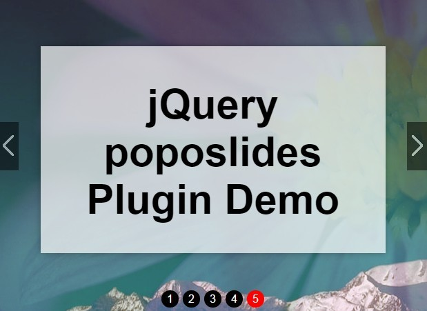 Lightweight Fullscreen Slideshow Plugin with jQuery - poposlides