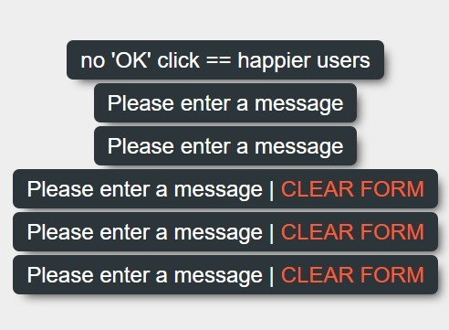 Lightweight Message Toaster For jQuery - timed-message.js