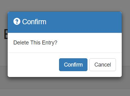 Lightweight Modal Dialog Plugin For Bootstrap - Bootstrap Confirm