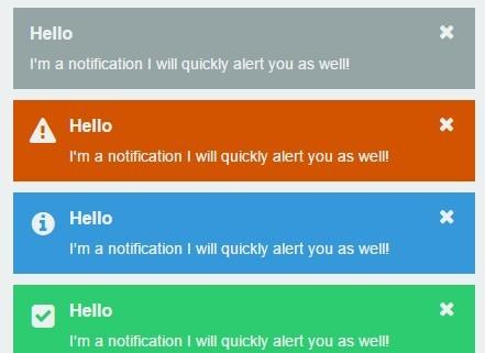 Lightweight Multipurpose jQuery Notification Plugin - Notify