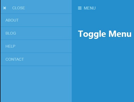 Lightweight Push Menu with jQuery and CSS3 - Toggle Menu