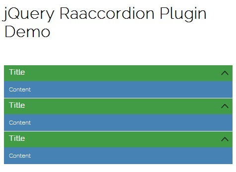 Lightweight Responsive Accordion Plugin For jQuery - raaccordion