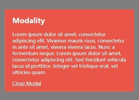 Lightweight Responsive jQuery Modal Popup Plugin - modality