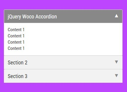 Lightweight jQuery Accordion Plugin With Smooth Animations - Woco Accordion