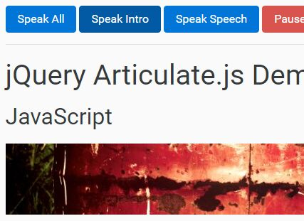 Lightweight jQuery Based Text To Speech Plugin - Articulate.js