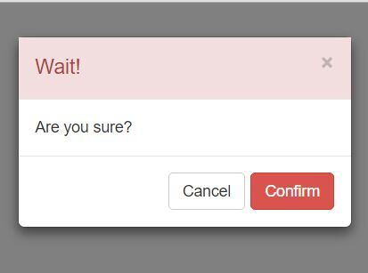 Lightweight jQuery Confirmation Modal For Bootstrap | Free