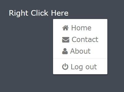Lightweight jQuery Context Menu Plugin - nuContextMenu