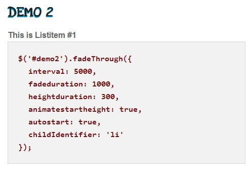 Lightweight jQuery Fade In/Out Slideshow - Fade Through