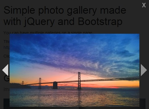 Lightweight jQuery Gallery Lightbox Plugin - Simple Photo Gallery