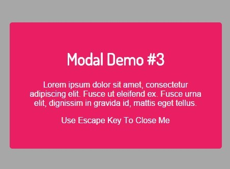 Lightweight jQuery Modal Plugin with Easing Support - moaModal