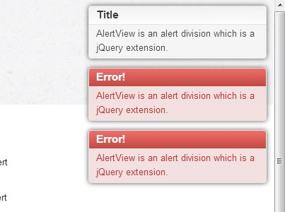 Lightweight jQuery Notification & Alert Message Plugin - AlertView